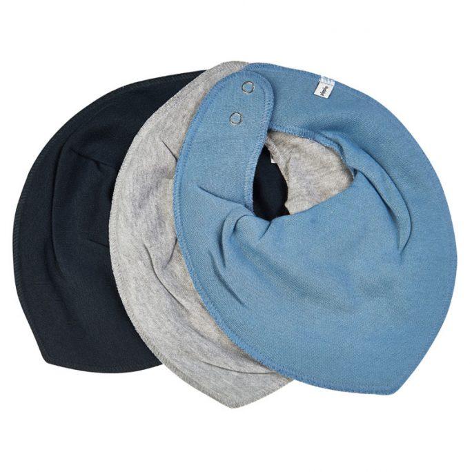 Pippi drybibs dregglisar. Dregglisar från Pippi barnkläder. Kommer i 3-pack med en blå, en grå och en marinblå. Beställ på LillaFilur.se