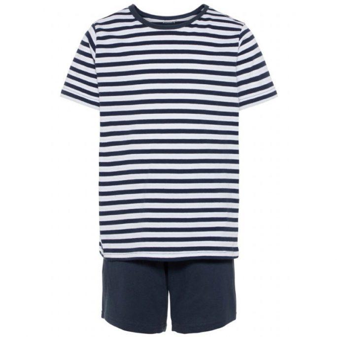 Pyjamas barn med korta ärmar och korta ben. Sommarpyjamas med t-shirt och shorts. Beställ barnkläder och barnpyjamas på LillaFilur.se