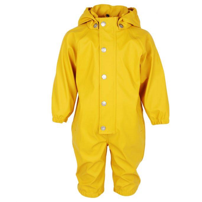 Regnoverall barn gul i storlek 74, 80, 86, 92 och 98. Beställ regnkläder barn och baby hos LillaFilur.se