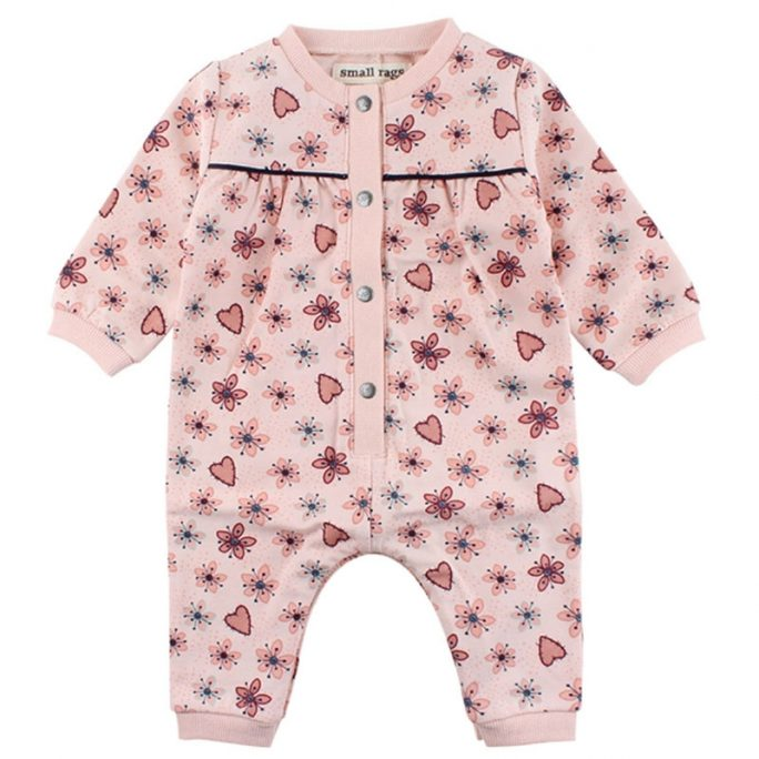 Small Rags babykläder. Söt sparkdräkt flicka storlek 68 i sweatshirt tyg. Köp babykläder på LillaFilur.se