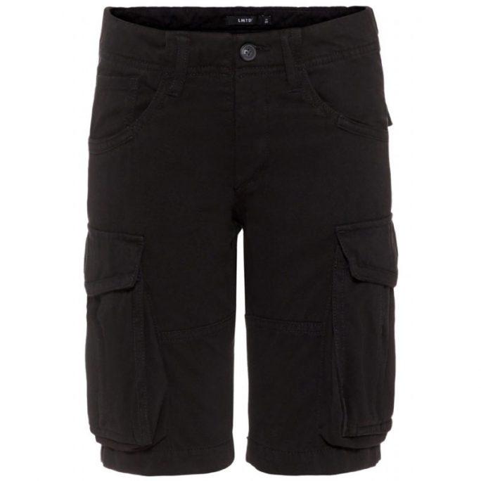 Svarta cargo shorts barn. Shorts barn storlek 140, 146, 152, 158, 164, 170, 176. Beställ junior kläder och junior shorts på LillaFilur.se