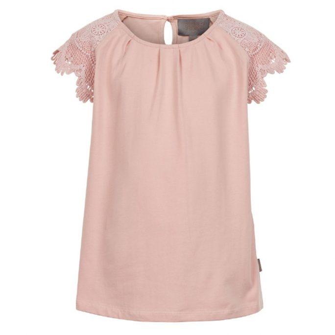 Tröja med spetsärmar. Söt rosa tröja för tjej med spetsärmar. Från Creamie barnkläder. Köp barnkläder och juniorkläder på LillaFilur.se