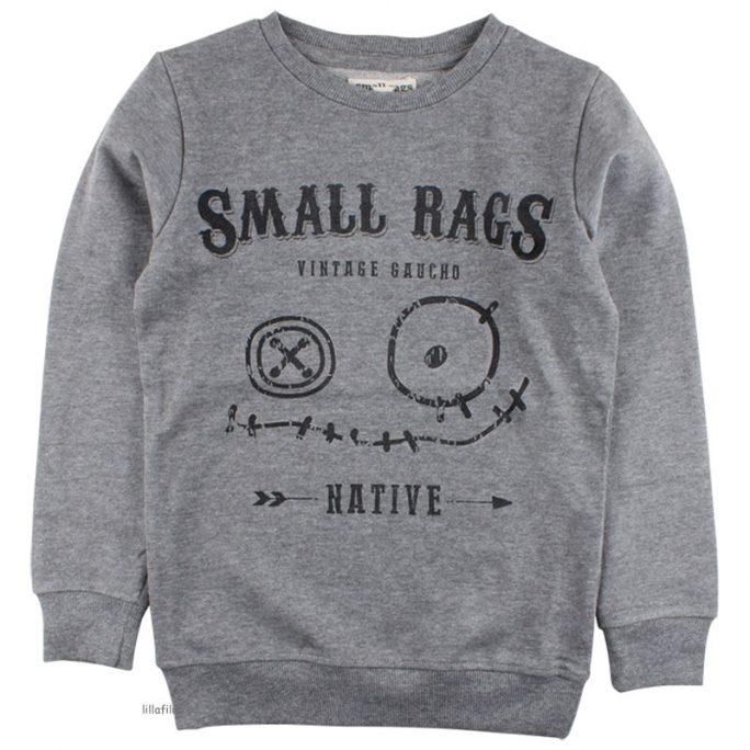 Barnkläder från Small Rags. Snygg grå sweatshirt med tryck. LillaFilur.se