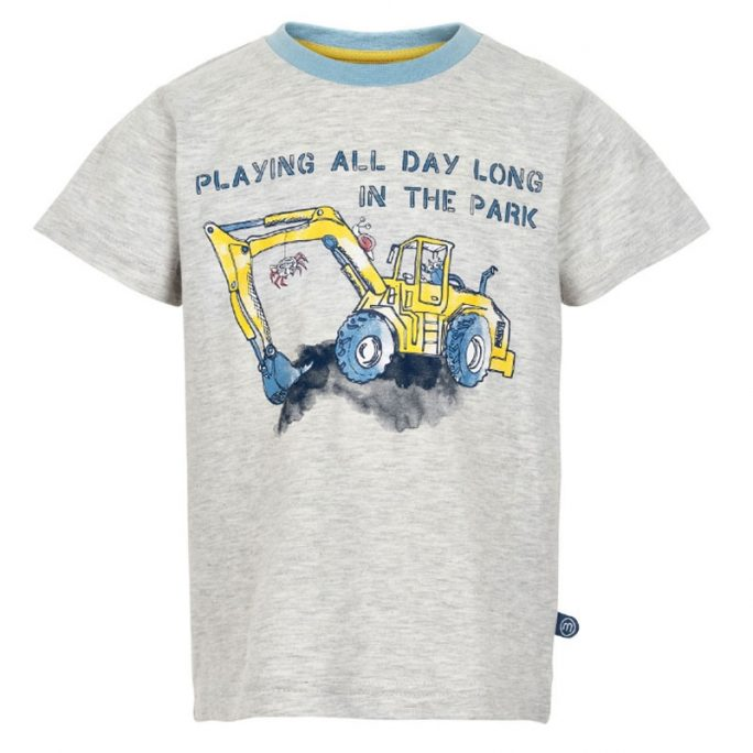 Minymo barnkläder rea. Tröja med grävmaskin nu 50 procent rabatt hos LillaFilur.se