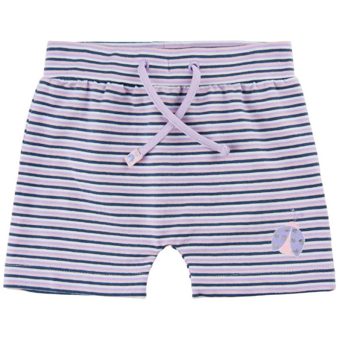 Shorts baby flicka randiga. Ekologisk bomull. Beställ babykläder sommar på LillaFilur.se
