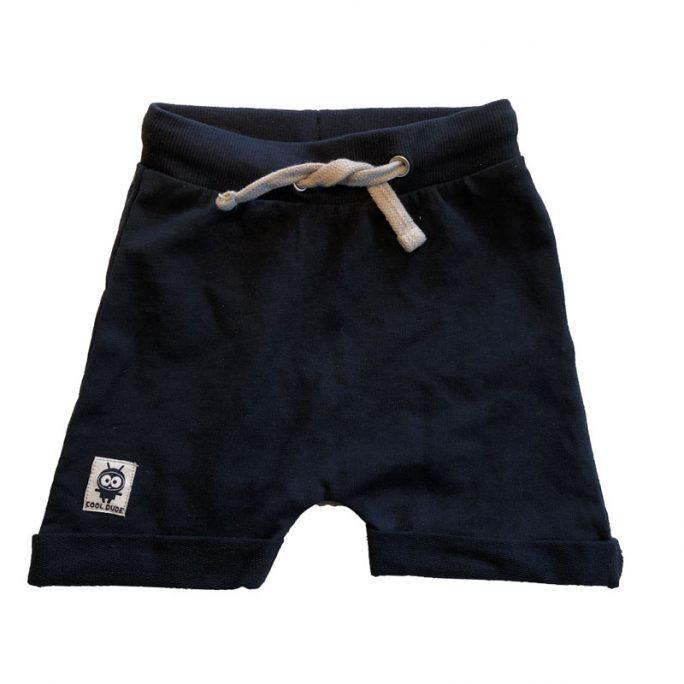 Shorts baby och barn marinblå storlek 62, 68, 74, 80, 86. Mjuka sköna sweatshirt shorts enfärgade. Beställ babykläder och barnkläder på LillaFilur.se