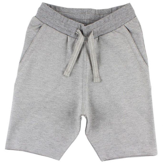 Shorts barn sweat grå med fickor. Shorts barn storlek 110/116, 122/128, 134/140, 146/152. LillaFilur.se