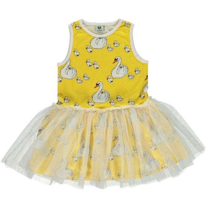Småfolk klänning barn tyll med svanar. Småfolk rea 50%. Beställ rea barnkläder på LillaFilur.se