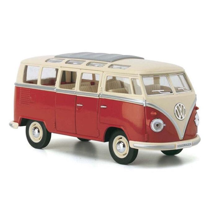 1962 Volkswagen Classical Bus. Stor leksaksbuss Röd.