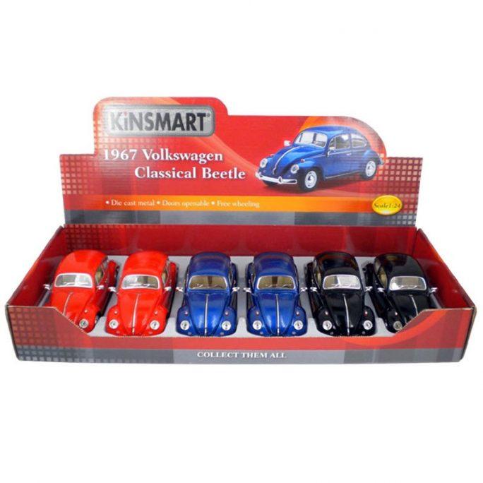 Leksaksbil Volkswagen Classical Beetle 1967 svart. Volkswagen Bubbla. Stor leksaksbil i metall. Omgående leverans. Vi slår in i present och julklapp gratis om du vill. Beställ leksaker på LillaFilur.se