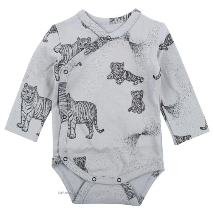 Prematurkläder, prematur body Ekologisk bomull. Med tigrar.