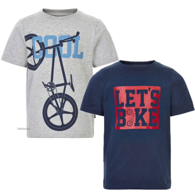 t-shirt barn cykelprint 2-pack