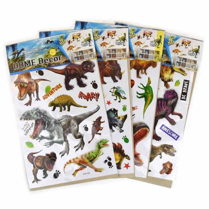 Stora Dinosaurier Väggstickers Wallstickers barn, 3-d stickers för vägg.
