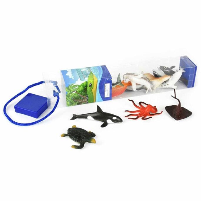 Havsdjur leksaksdjur plastdjur 12-pack.