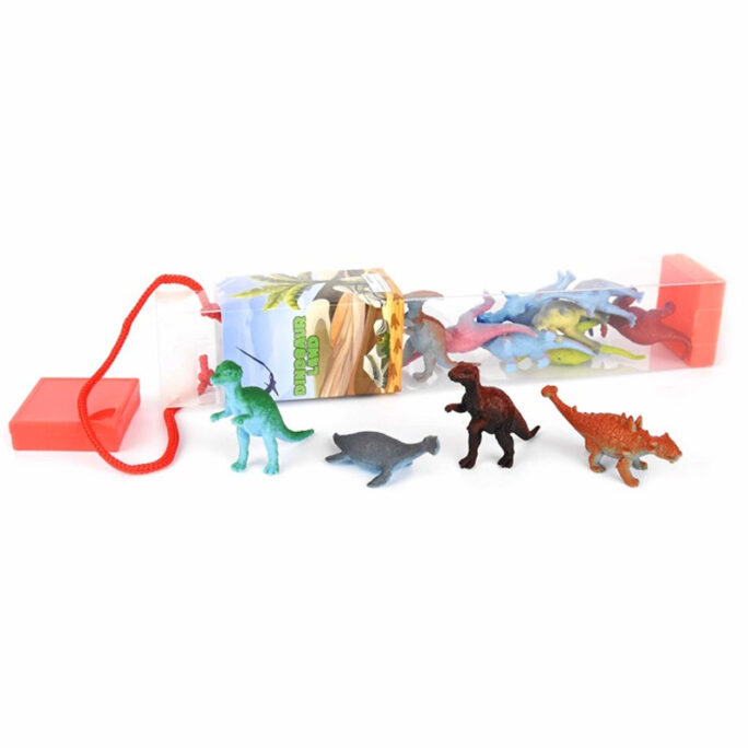 Små dinosaurer, leksaksdjur i plast. 12-pack.
