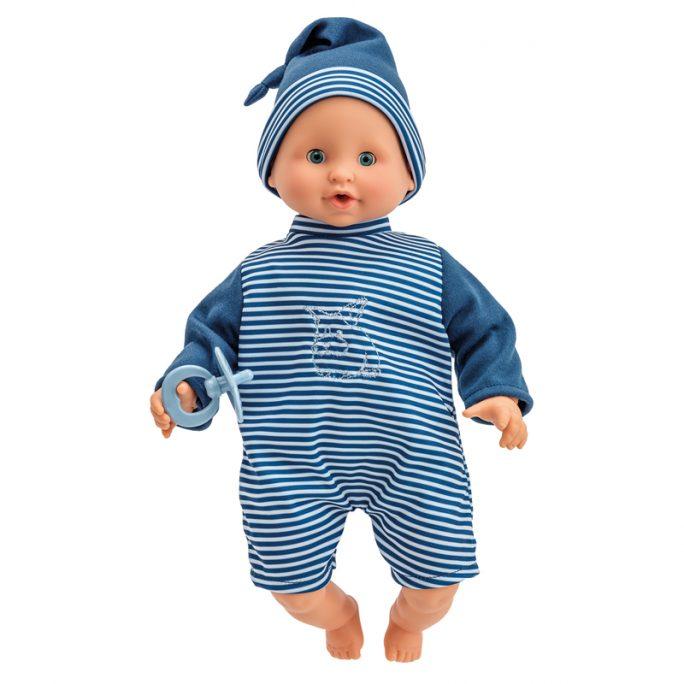 Docka pojke med mjuk kropp. Olle docka 30 cm med ögon som kan blunda. Olle passar barn från 12 månader och uppåt. Beställ Skrållan Olle och dockkläder och tillbehör hos Lilla Filur.se.