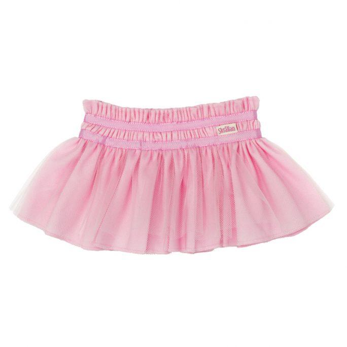 Dockkläder för docka. Söt rosa tyllkjol för Skrållan docka och andra dockor upp till 45 cm. Mer docktillbehör och kläder för dockor på LillaFilur.se