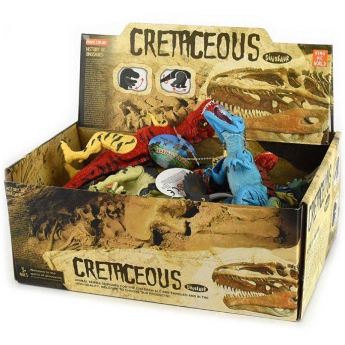 Stora dinosaurier leksaker. Dinosaurier med rörlig kropp. 6 st stora Dinosaurier i plast. LillaFilur.se