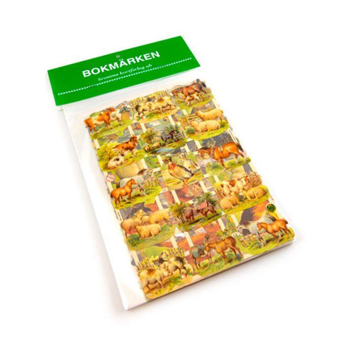 Bokmärken Djur 5 ark. Fina bokmärken på hela ark med djur. Kommer 5 olika ark. Köp bokmärken på LillaFilur.se
