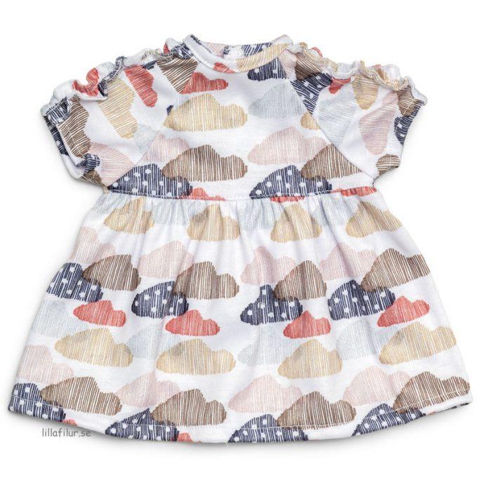 Dockkläder Lillan Docka. Söt klänning och dockkläder för docka 30 cm, 32 cm, 34 cm, 36 cm, 38 cm. LillaFilur.se
