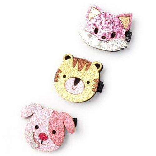 Hårspänne glitter med djur. Köp hår accessoarer barn på LillaFilur.se