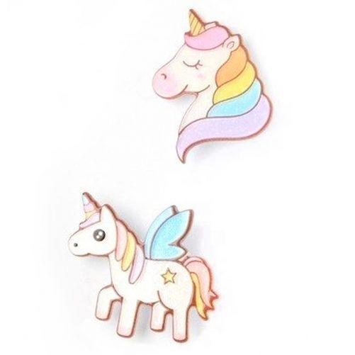 Hårspänne barn med enhörning unicorn. Söta pastellfärgade hårspännen. Beställ på LillaFilur.se