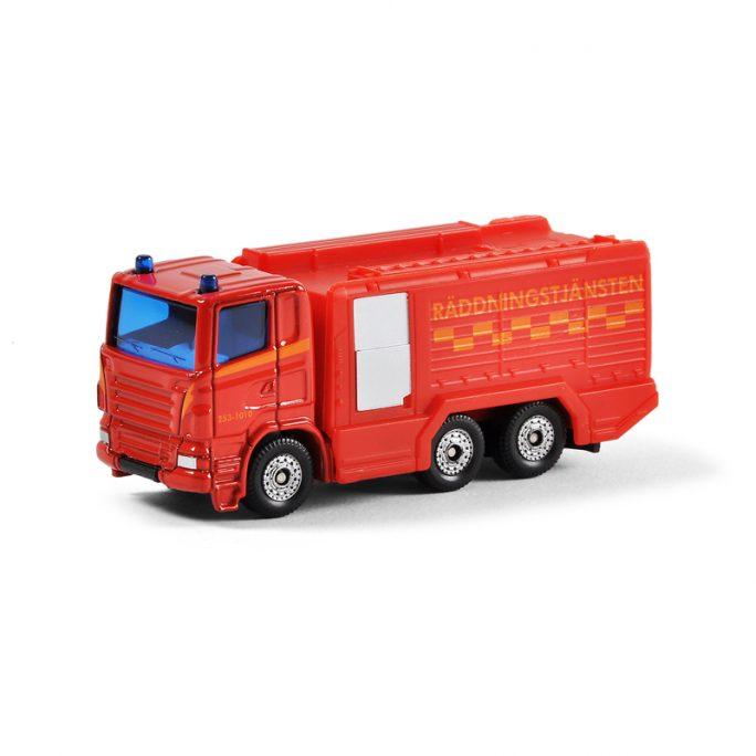 Leksaksbil i metall brandbil Siku. Beställ hos LillaFilur.se