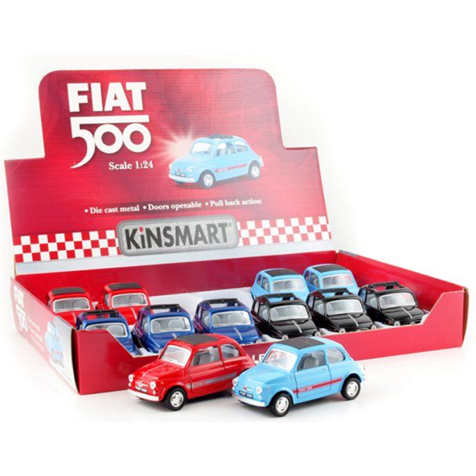 Leksaksbil Metall Fiat 500. Beställ retro leksaksbilar på LillaFilur.se