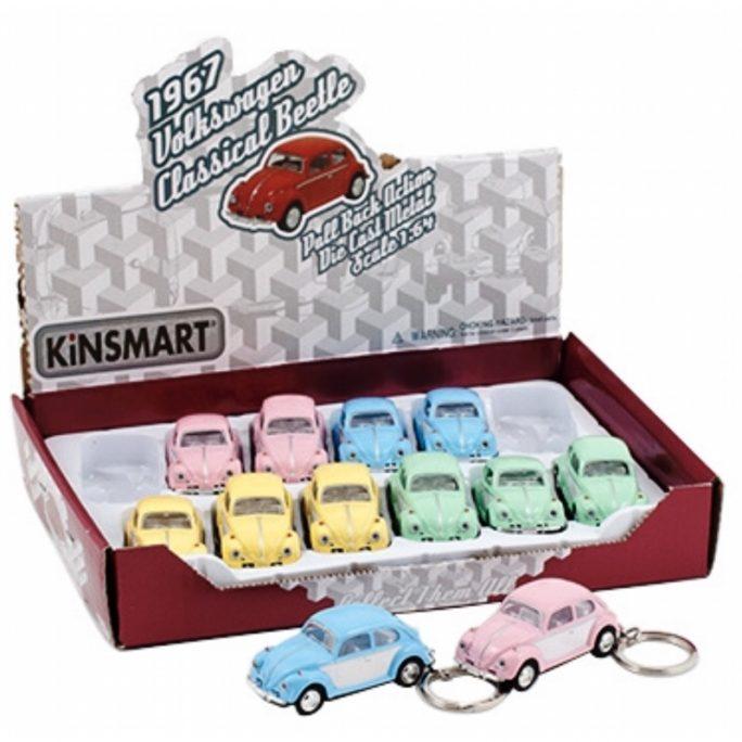 Nyckelring med Bubbla bil. Söta nyckelringar med Volkswagen Bubbla bil. Köp nyckelring bil på LillaFilur.se