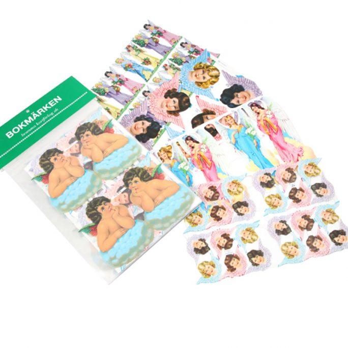 Bokmärken Änglar. Fina bokmärken med änglar. Vi har stort sortiment bokmärken och bokmärkesalbum. Beställ bokmärken på LillaFilur.se