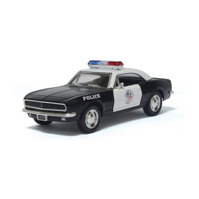 Leksaksbil amerikanare retro polisbil metall Cheva. Fin amerikansk polisbil leksak. Beställ på LillaFilur.se