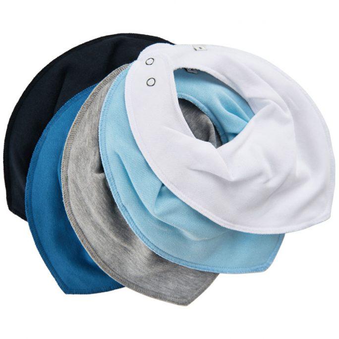 Pippi dregglisar storpack 5-pack blå. Enfärgade blå, vit och grå dregglisar. Beställ pippi dregglisar och drybibs på LillaFilur.se