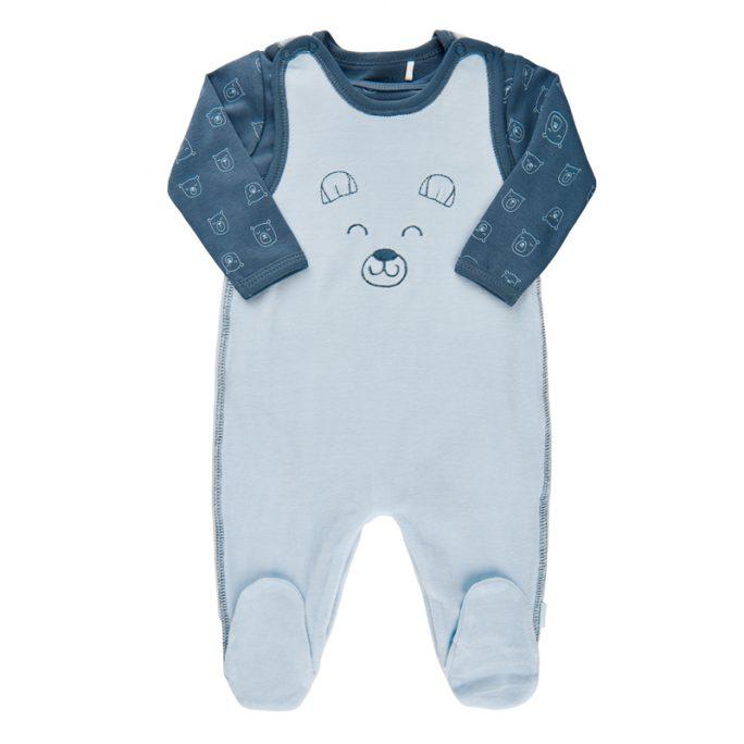 Prematur pyjamas 44 cl. Sparkdräkt och body i set. Vi har prematur kläder i storlek 32, 38, 40, 44 och 48. Beställ prematurpyjamas på LillaFilur.se