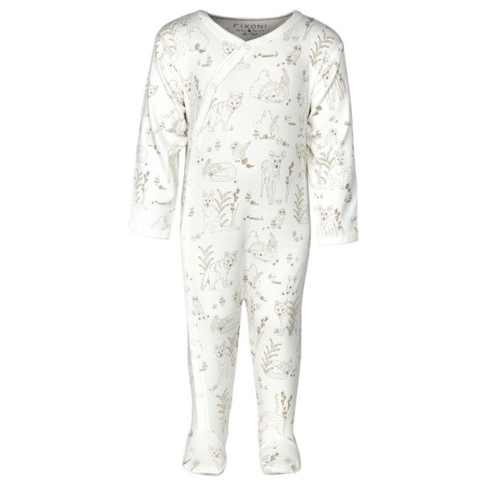 Prematur pyjamas med fötter storlek 44 djur. Köp prematurkläder hos LillaFilur.se - Vi har även avhämtning i Mölndal utanför Göteborg.