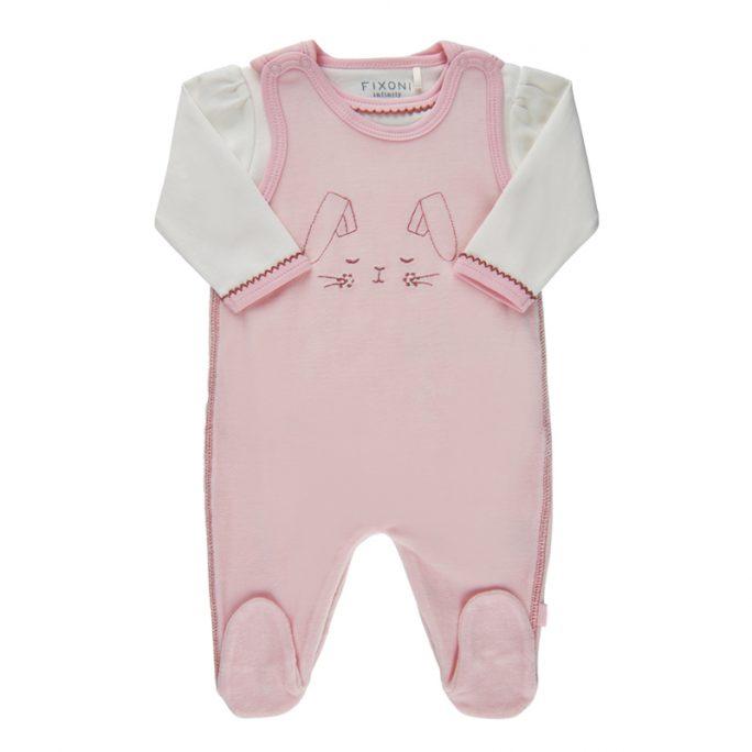 Prematurkläder rosa storlek 44 sparkdräkt body velour. Set med body och sparkdräkt. Beställ prematur kläder hos LillaFilur.se - Omgående leverans.