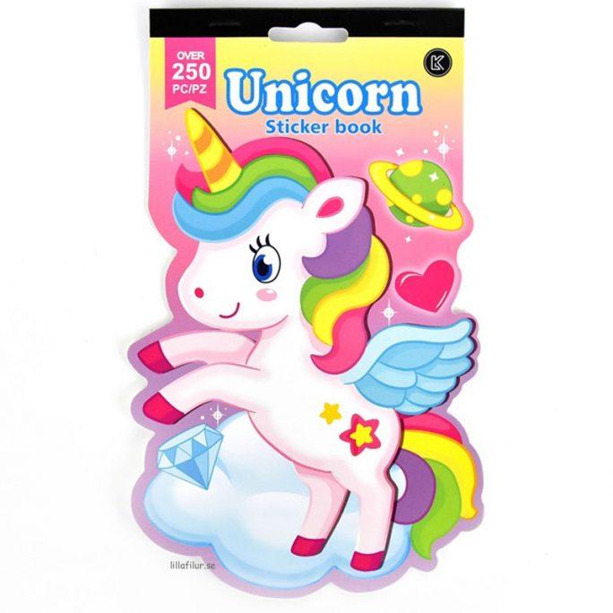Enhörning leksaker klistermärken barn. Superfina stickers barn storpack med enhörningar / unicorns. Beställ stickers storpack på LillaFilur.se