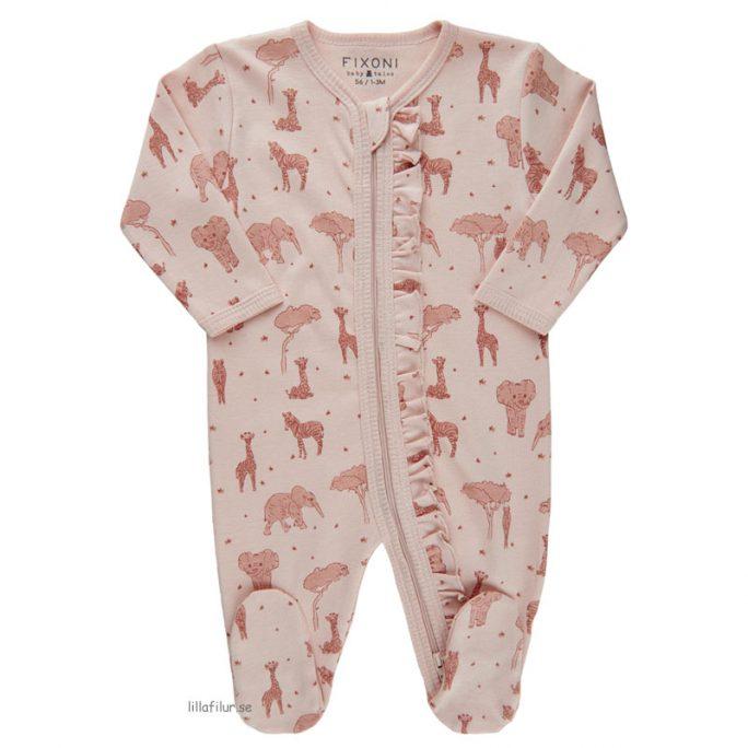 Pyjamas nyfödd baby med dubbla dragkedjor. Beställ babykläder online på LillaFilur.se