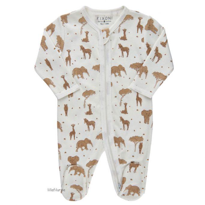 Pyjamas nyfödd och prematur storlek 44 cl med fötter och dubbla dragkedjor som kan öppnas i båda ändar. LillaFilur.se