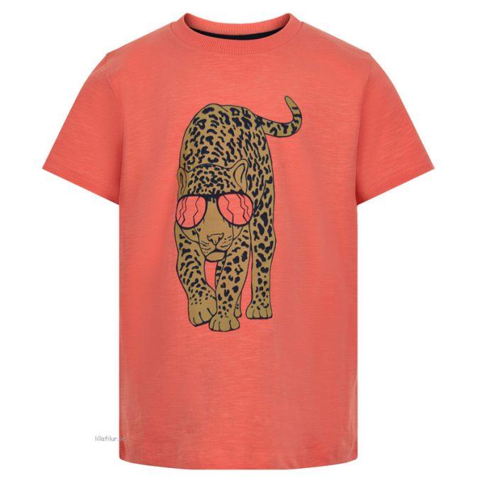 Coola barnkläder med tryck. T shirt med tryck barn Leopard - Storlek 104, 110, 116, 122, 128, 134, 140. Beställ Minymo barnkläder på LillaFilur.se