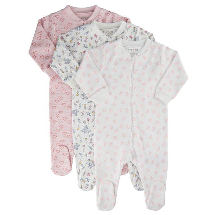 Pyjamas Baby Dubbel Dragkedja med fötter - Rosa. Babypyjamas med fötter och dragkedja. Pyjamas nyfödd storlek 50, 56, 62, 68, 74. Köp baby pyjamas på LillaFilur.se