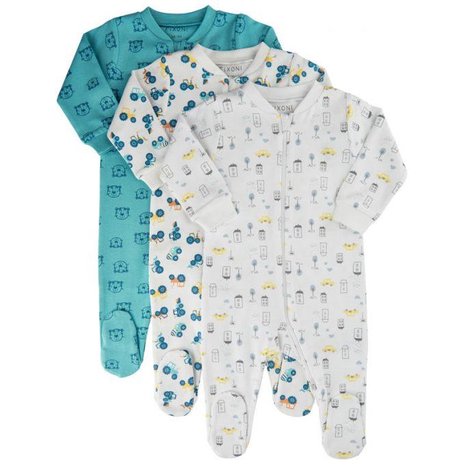 Baby pyjamas dubbel dragkedja storlek 50 56 62 68 74. Pyjamas baby med fot. Dragkedja som kan öppnas i båda ändar. Köp babypyjamas på LillaFilur.se