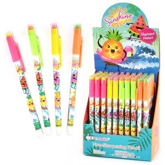 Blyertspenna barn, blyertspennor barn med luktsudd. Köpa blyertspenna barn och luktsuddgummi på LillaFilur.se
