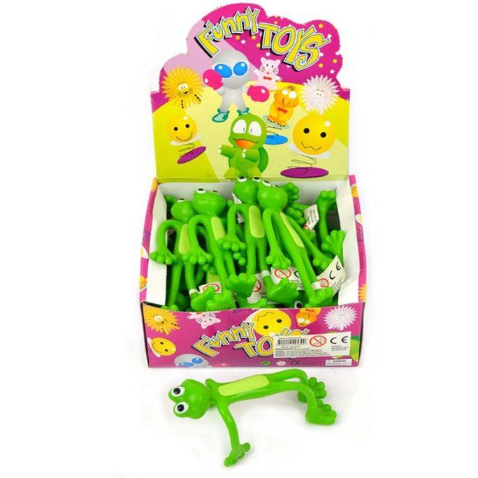 Leksaksdjur groda. Rolig böjbar groda grön som ser ut som retroleksak rosa pantern böjbar som var populär på 70-talet och 80-talet. Beställ leksaker online på LillaFilur.se