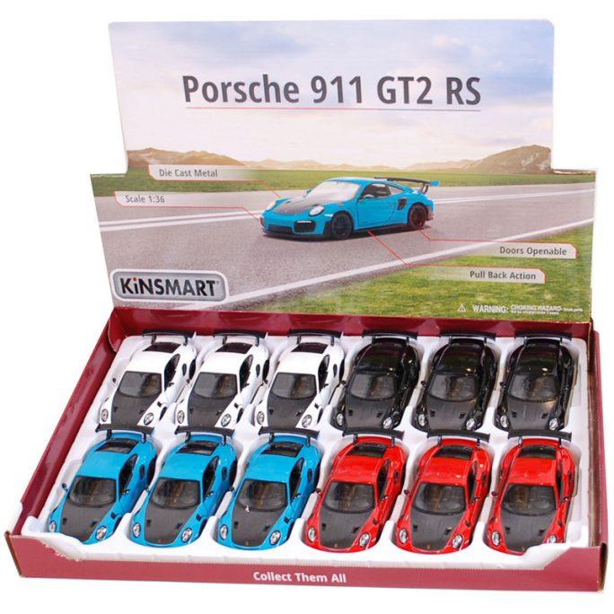 Leksaksbilar i metall. Porsche 911 gt2 rs. Leksaksbil i skala 1:36, storlek 13 cm. LillaFilur.se