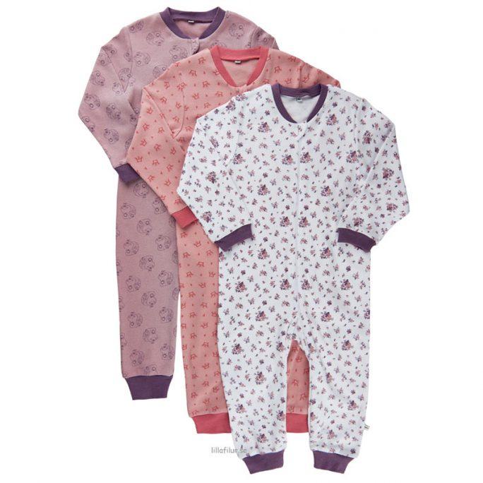 Pyjamas baby och barn heldräkt med dragkedja. Pyjamas storlek 50, 56, 62, 68, 74, 80, 86, 92 cl. Söt pyjamas från Pippi Babykläder nu REA. LillaFilur.se