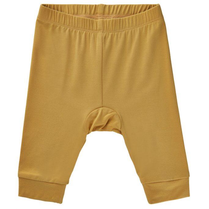 Bambukläder bebis. Extra mjuka och sköna babykläder i bambu. Snygga gula leggings storlek 50, 56, 62, 68, 74 och 80 cl. Köp bambukläder på LillaFilur.se