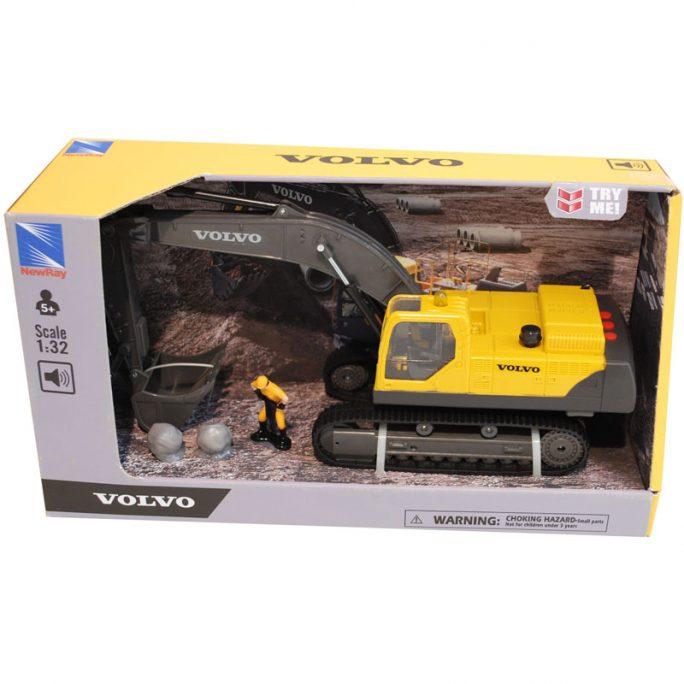 Leksaksbil barn Volvo grävmaskin ec460b. Stor leksaksbil i plast. Storlek 35 cm. Beställ leksaksbil barn på LillaFilur.se