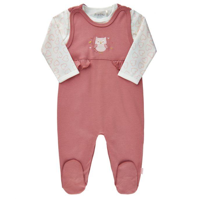 Set med prematur body storlek 44 och matchande prematur sparkdräkt storlek 44. Babykläder med uggla. Ekologisk bomull. Köp babykläder på LillaFilur.se
