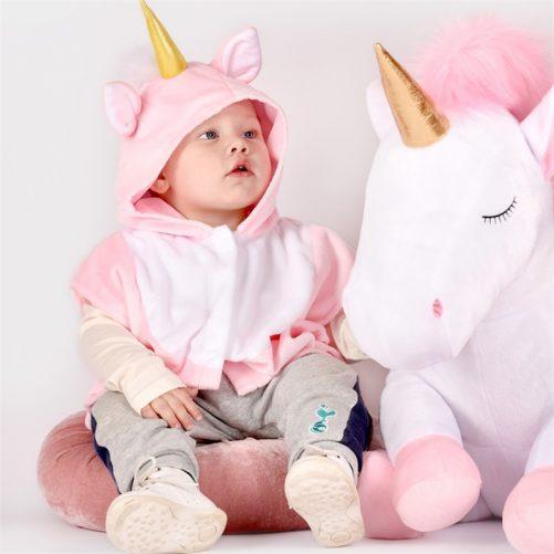 Stor nalle enhörning. Mjuk stor unicorn. Fin present till nyfödd. Fri frakt. LillaFilur.se