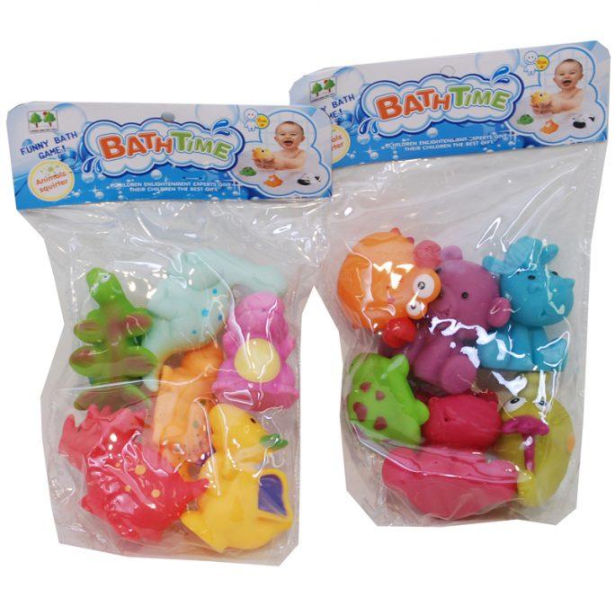 Badkarsleksaker baby och barn. Små söta djur att ha i badkaret. Kommer i 6 pack. Sprutar vatten när man trycker på dom. Köp leksaker och badleksaker för badkar på LillaFilur.se